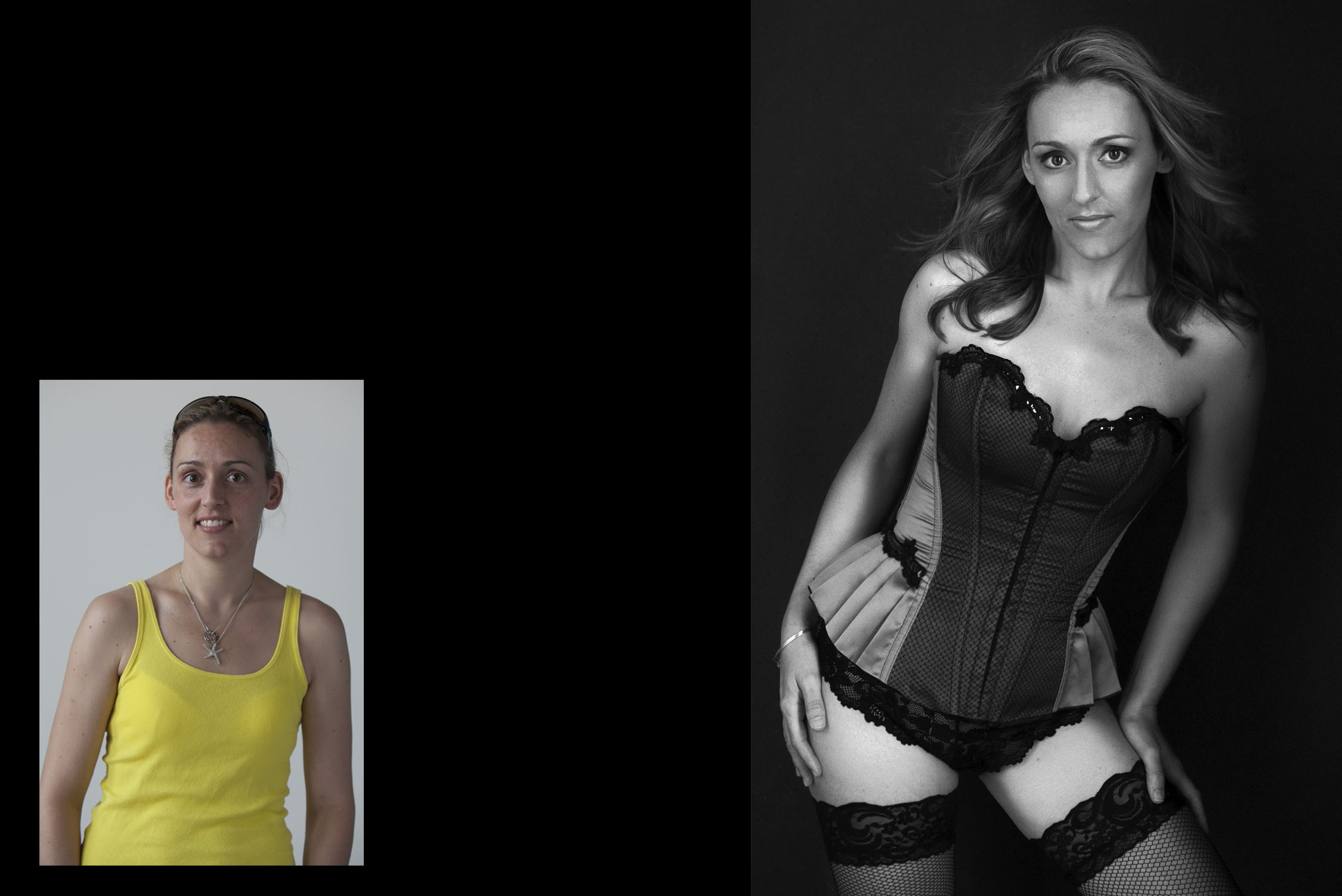 Transformation for boudoir photographer Boston Massachusetts