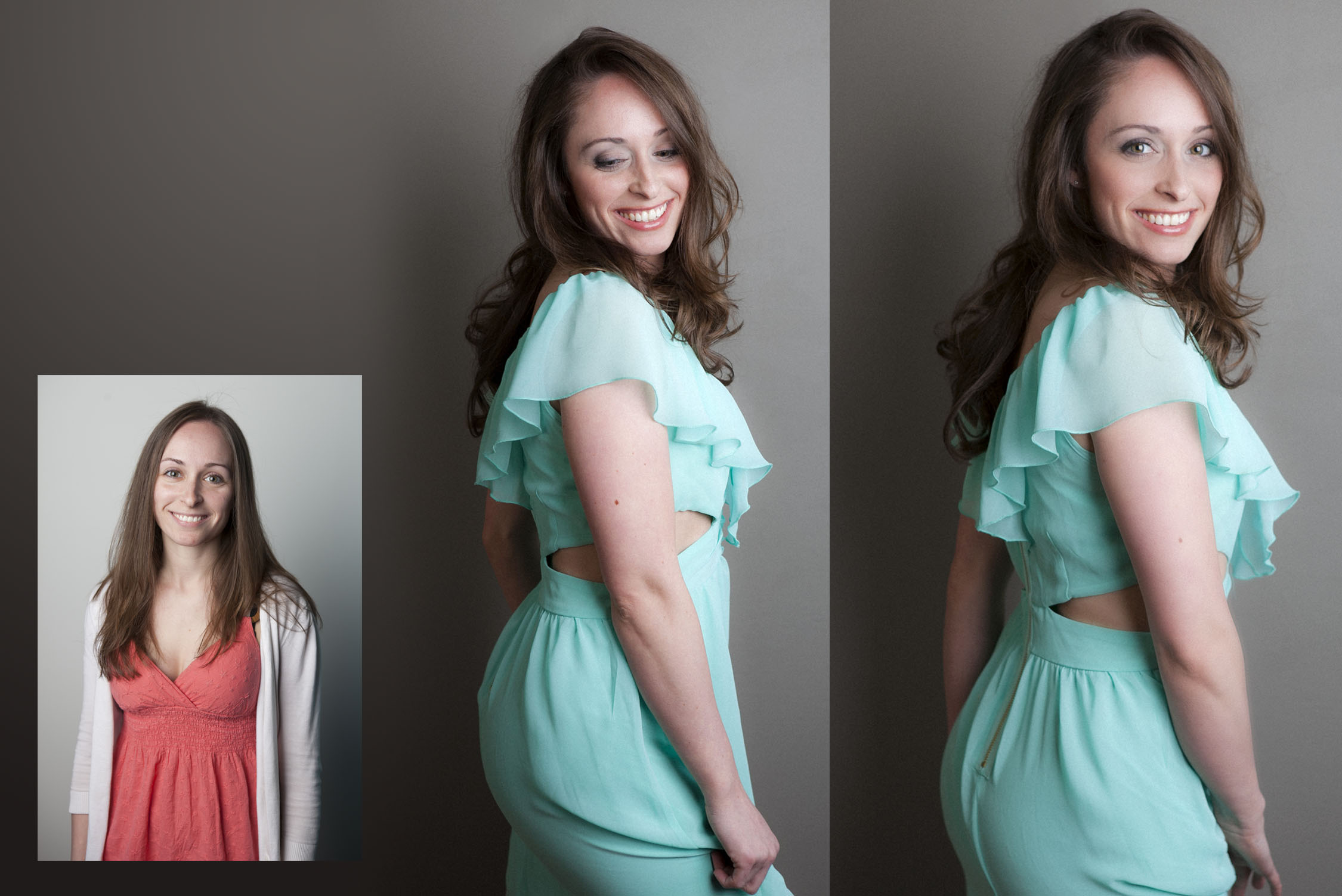 photos of before and after for a glamour session by boston glamour photographer Alice Pepplow, The Imagery Studio