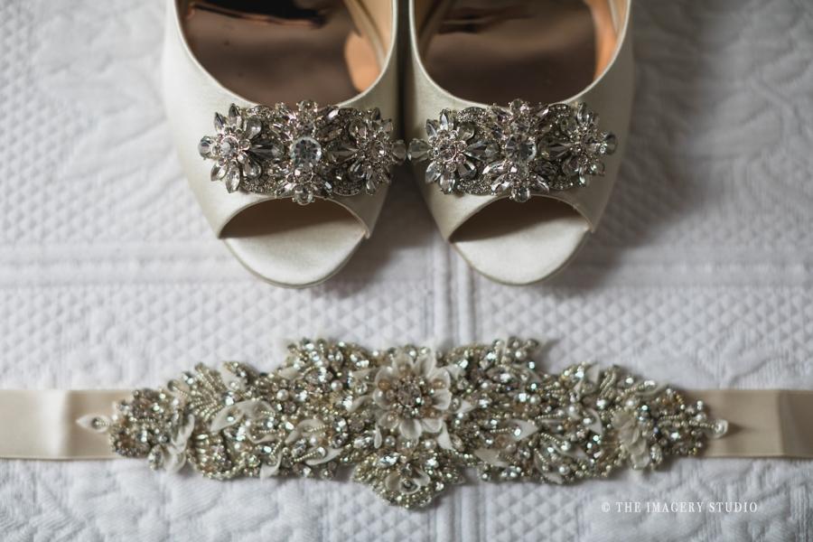 Bridal Shoes by Badgley Mischka, Harrington Farm wedding photos