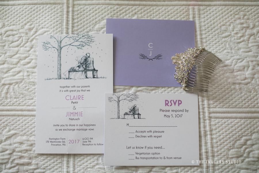 wedding invitation by Vista Print