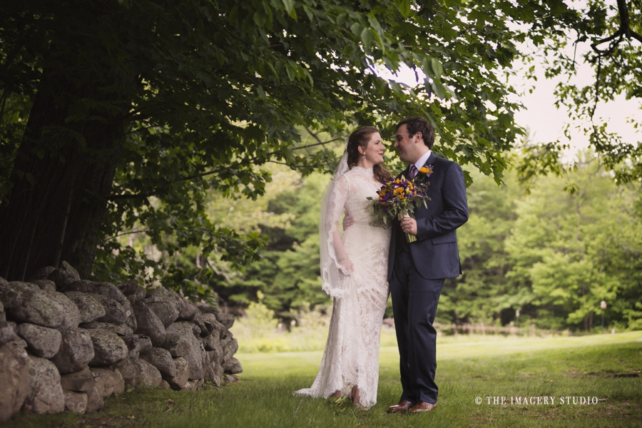 Bride and Groom portraits at a harrington farm wedding