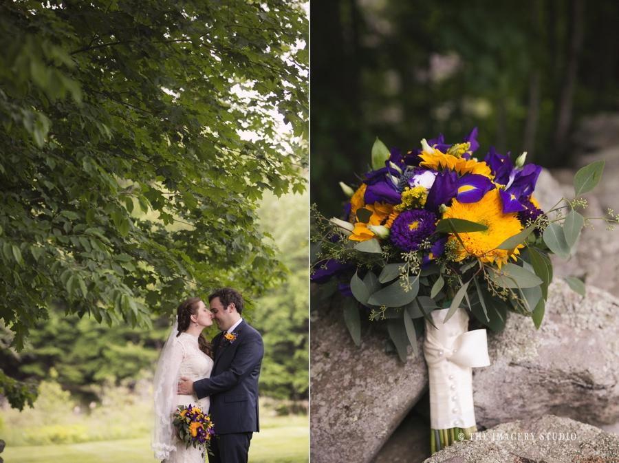 flowers by petal flowers and gifts, wedding portraits at harrington farm wedding, near stone walls