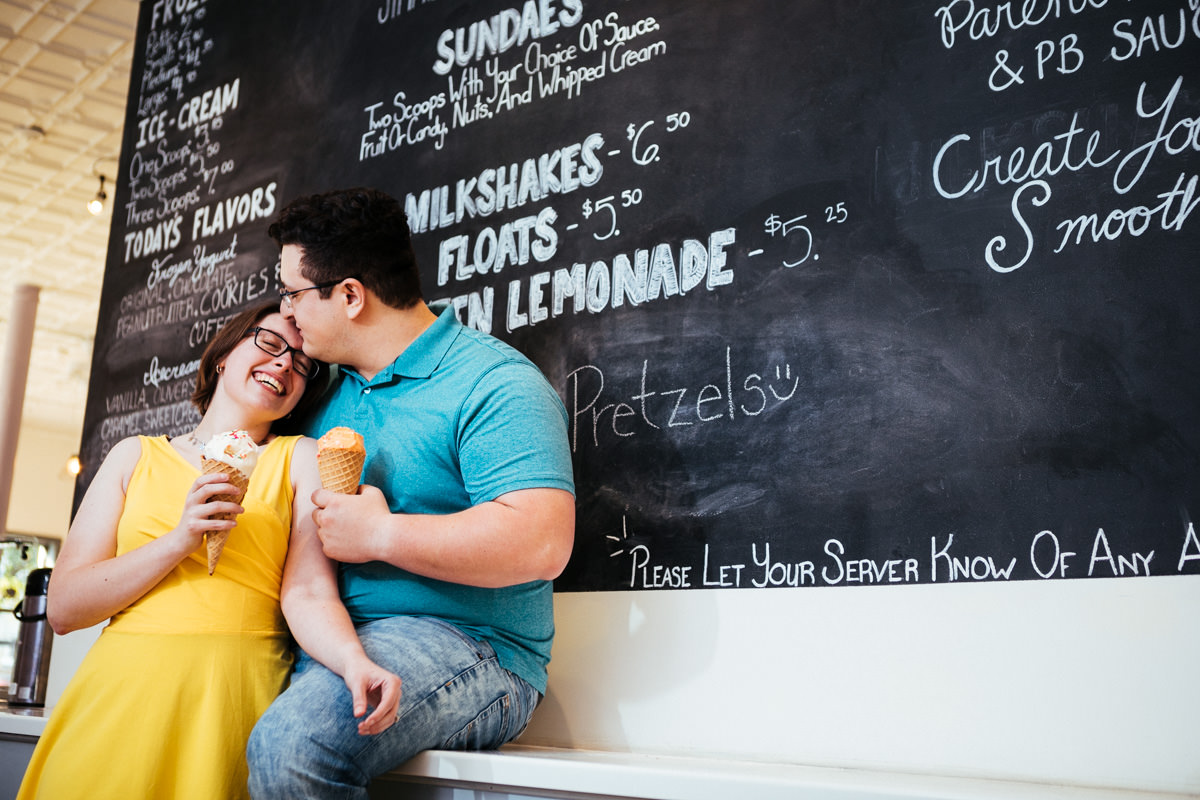 Fun Engagement Session in Worcester MA at Woobery