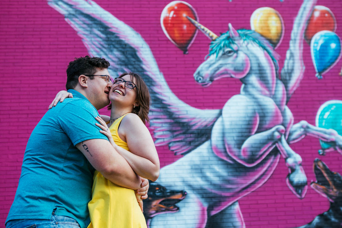 Fun Engagement Session in Worcester MA, unusual engagement session
