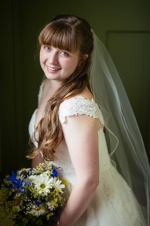 gorgeous portrait of a bride at hartmans herb farm weddings