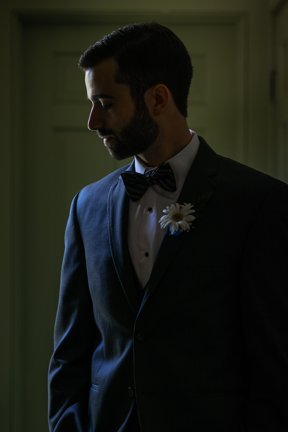 hartmans herb farm weddings, artistic photo of a groom