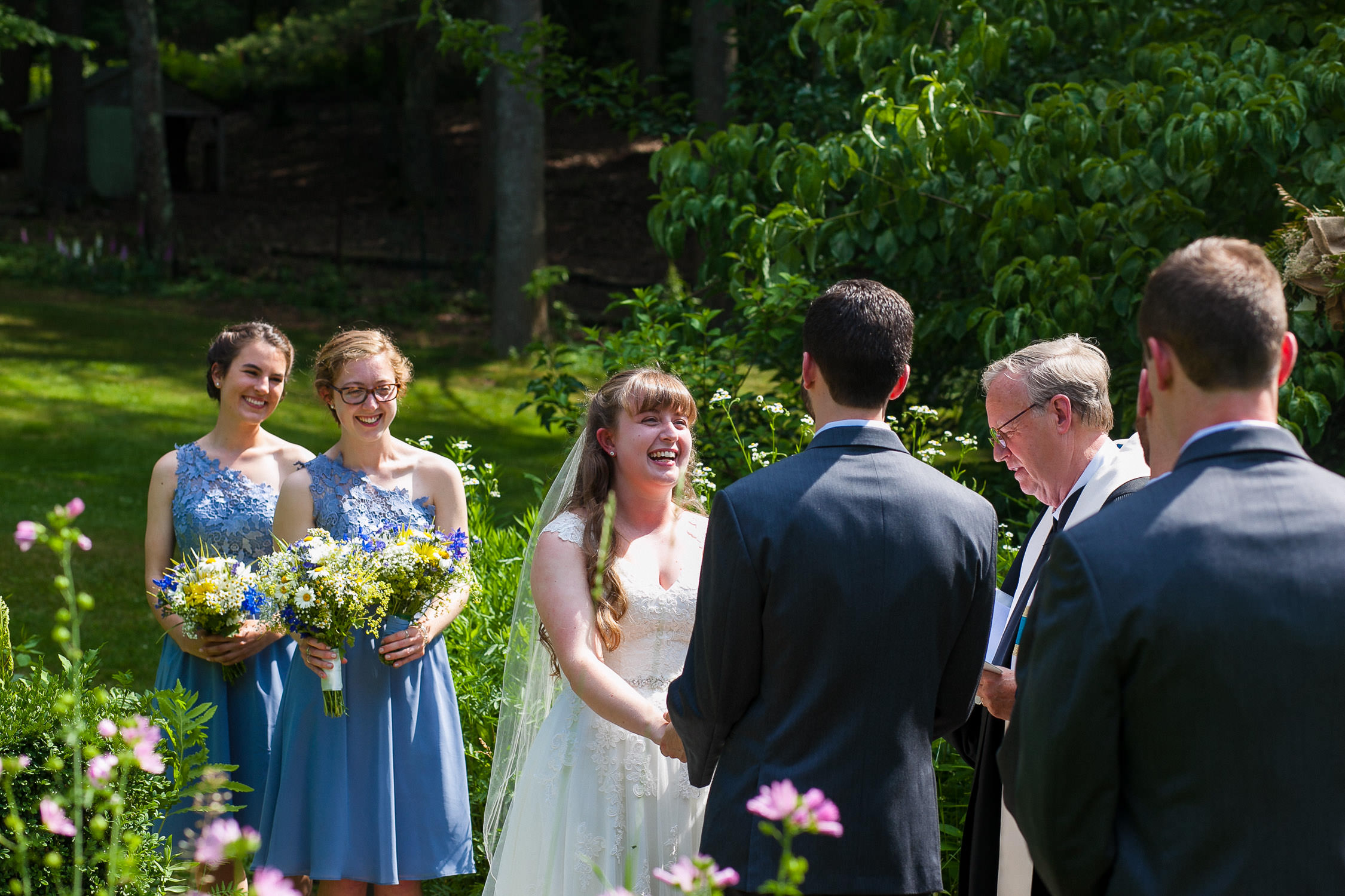 hartmans herb farm weddings, sunny ceremony