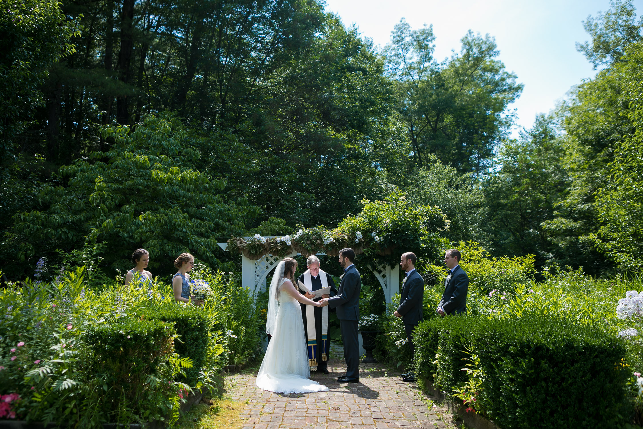 hartmans herb farm weddings, overall view of ceremony site