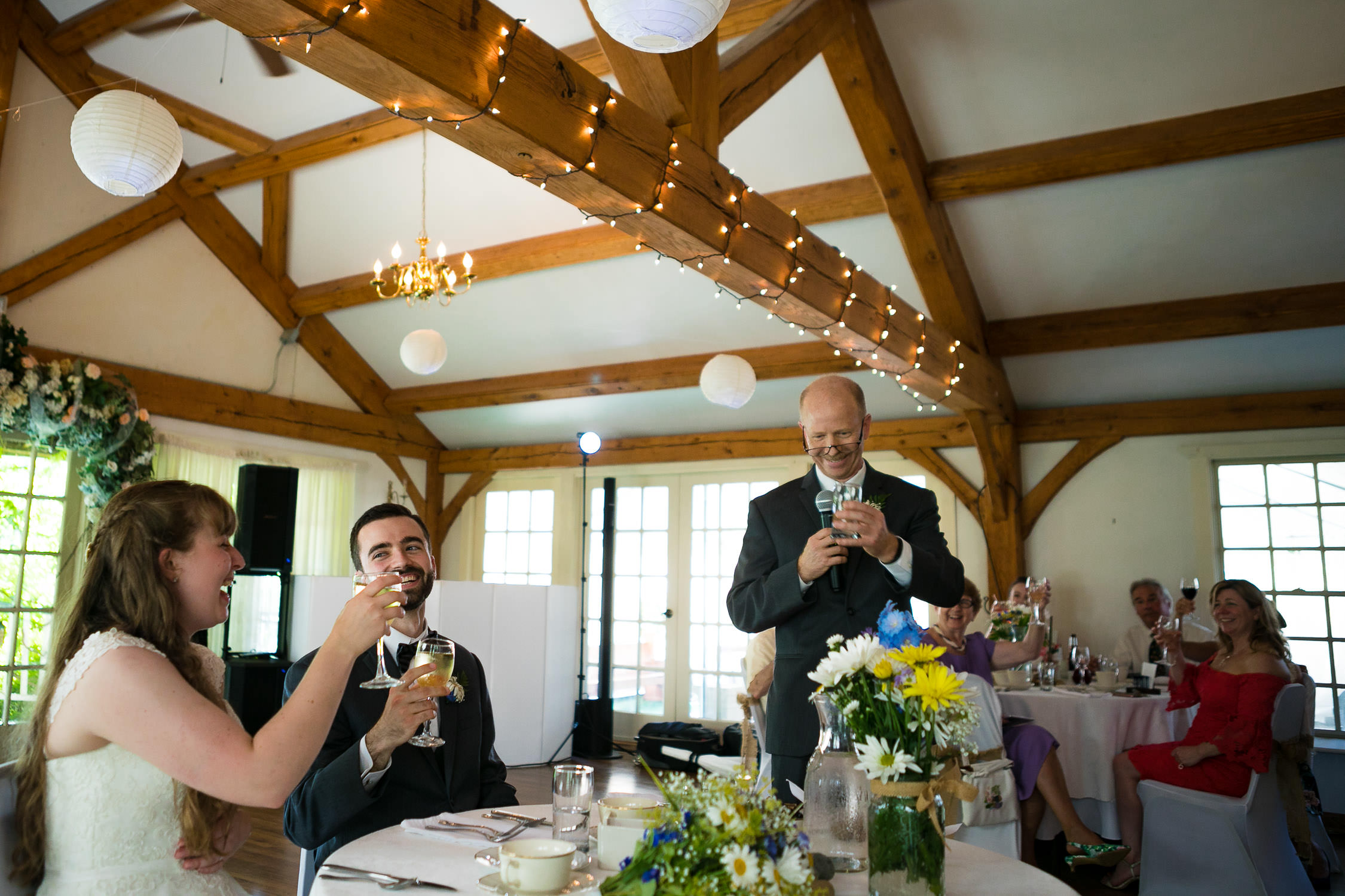 beautiful father of the bride speech hartmans herb farm weddings, emotional and heartfelt moments