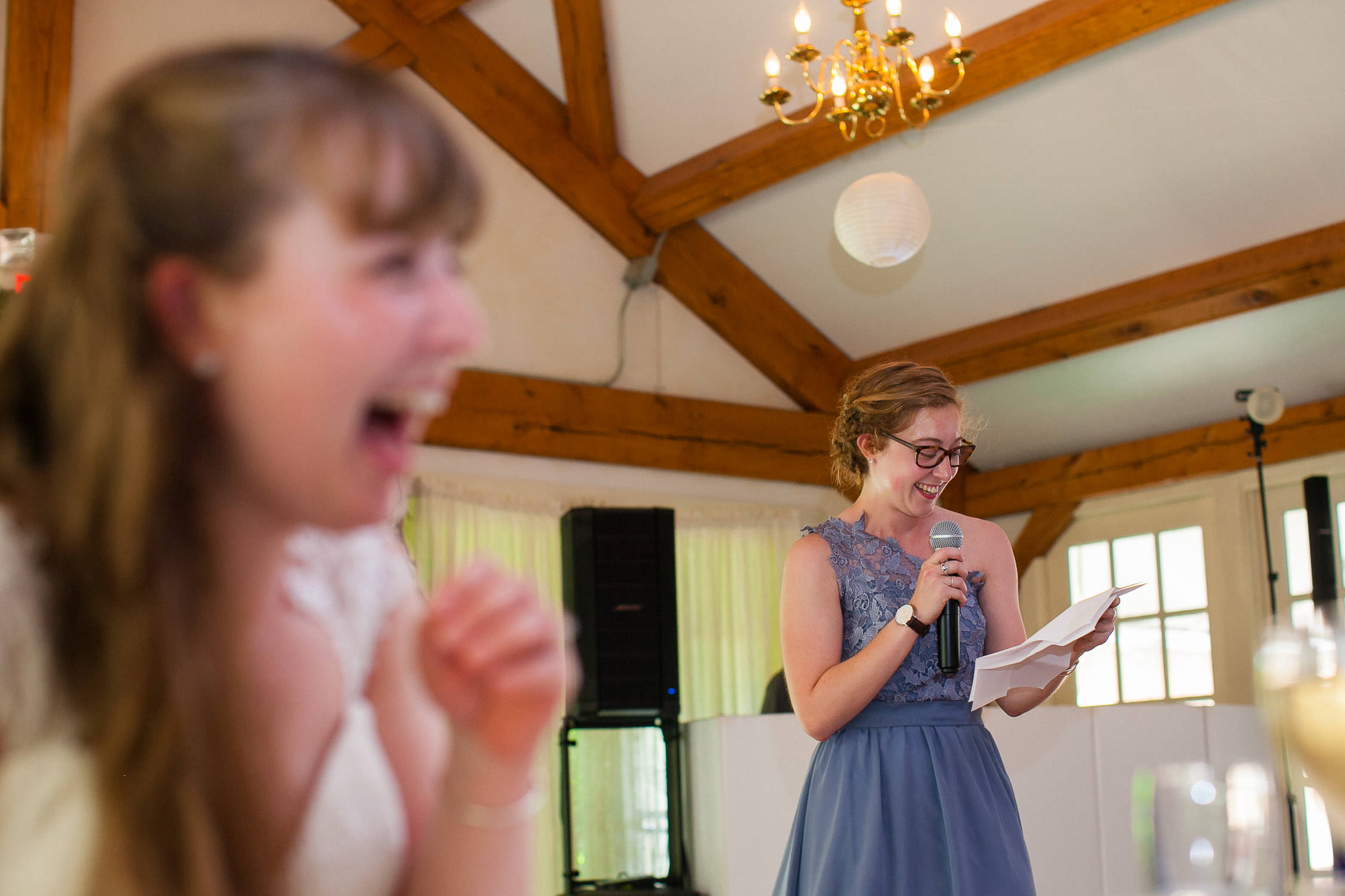 hilarious maid of honor speech hartmans herb farm weddings