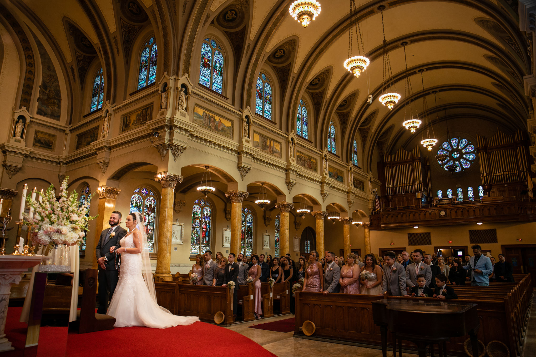 Worcester wedding photographer - Holy Family Parish at St. Joseph's Church , altar view